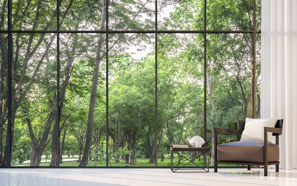 Цэлгэр цонхоор харагдах байгалын үзэмж