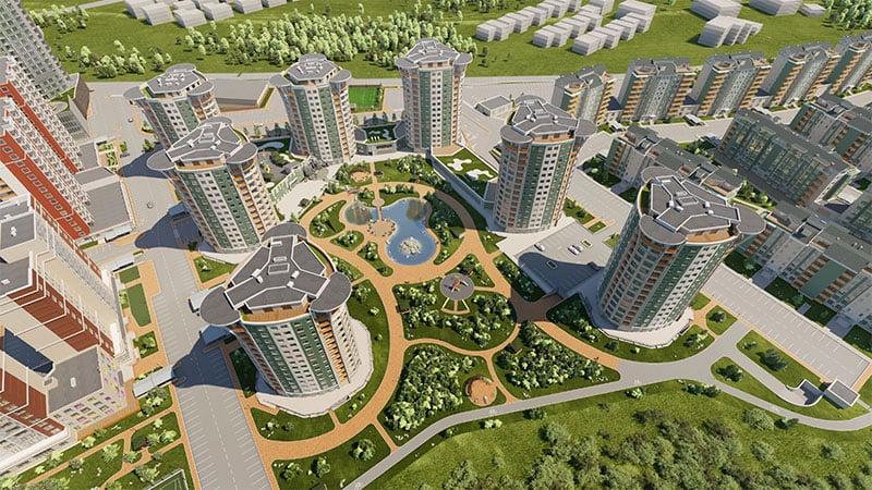 River Garden хотхоны ерөнхий төлөвлөлт
