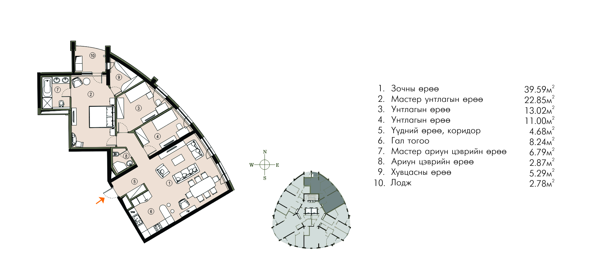 Ривер Гарден хотхон нэгдсэн төлөвлөлт ногоон байгууламж 123М2