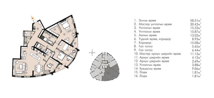 Ривер Гарден хотхон нэгдсэн төлөвлөлт ногоон байгууламж 214М2