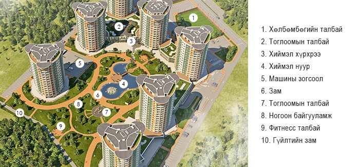 River Garden Төлөвлөлт